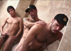 Latin Uniformed Toilet Orgy