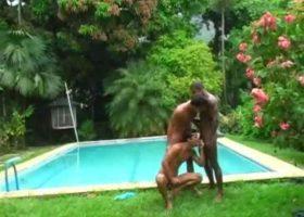 Pool Side Brazilian Sex Orgy