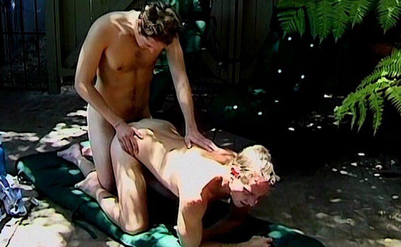 Hairy Dirty Blond Top Fucks Ass Outdoors – Scott Mann & Marcus